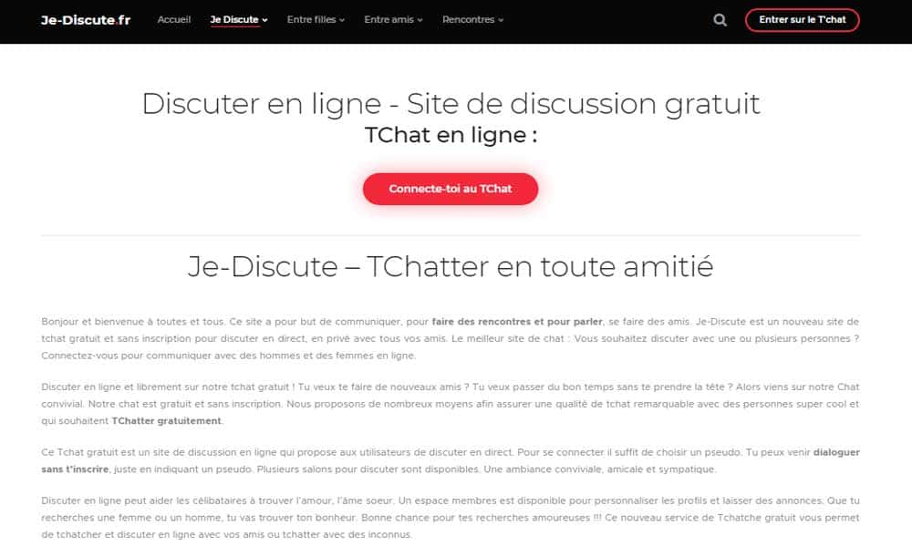 Tchat gratuit sans inscription mobile
